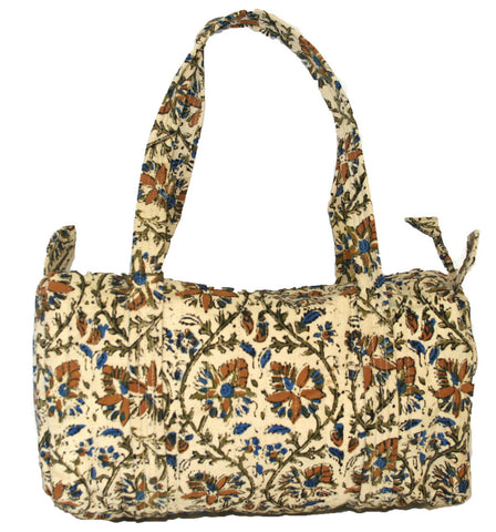 Handmade Cotton Kalamkari Block Print Carry All Shopping Work Tote Bag 14x8