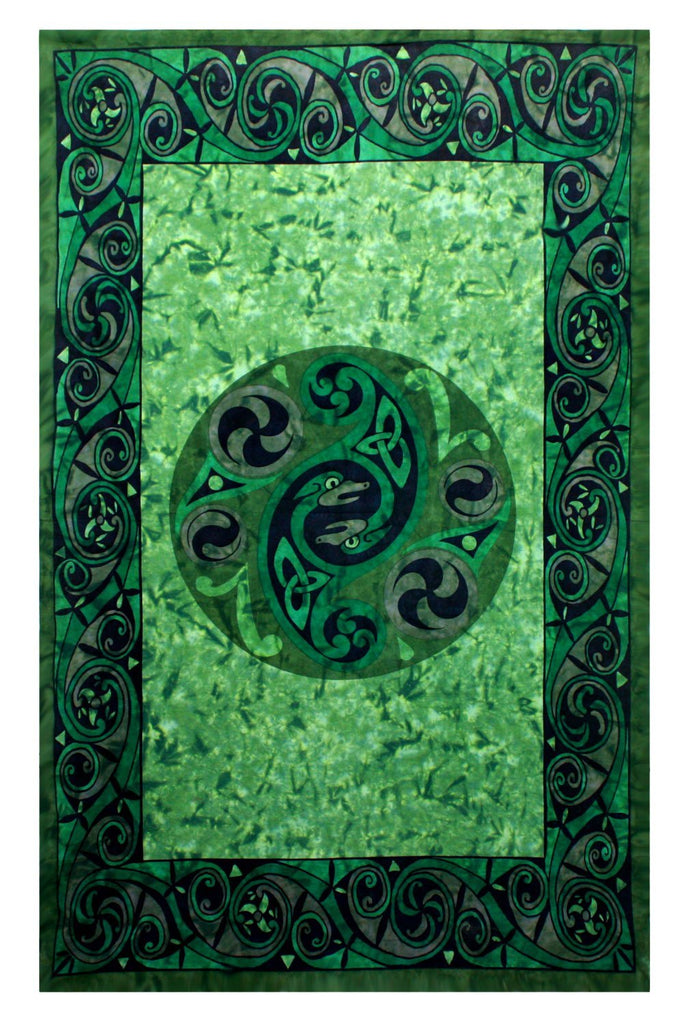 Celtic Irish Snake Tie-dye Tapestry Tablecloth Beach Sheet Wall Hanging 60x90