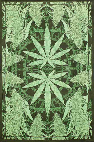 Hempest Marijuana Leaf Tapestry Wall Art Huge Poster 60x90 Inches Beach Sheet - Sweet Us