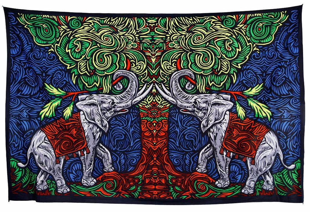 Handmade 100% Cotton 3D Elephant Tapestry Tablecloth Throw Beach Sheet Dorm Decor 60x90 - Sweet Us