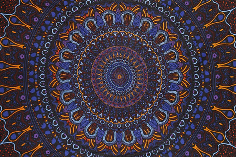 Handmade Cotton 3D Eclipse Psych Art Tapestry Tablecloth Spread 60x90 Inches - Sweet Us