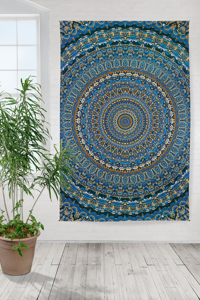 Handmade 100% Cotton 3D Harmony of Life Psych Art Tapestry Tablecloth Sheet 60x90 - Sweet Us