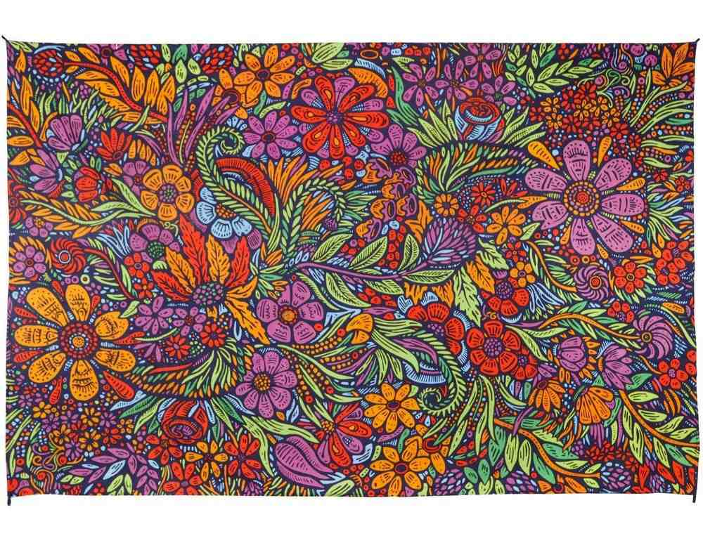 3D Lush Flower Cotton Floral Tapestry Wall Hanging Tablecloth Rectangle Poster - Sweet Us