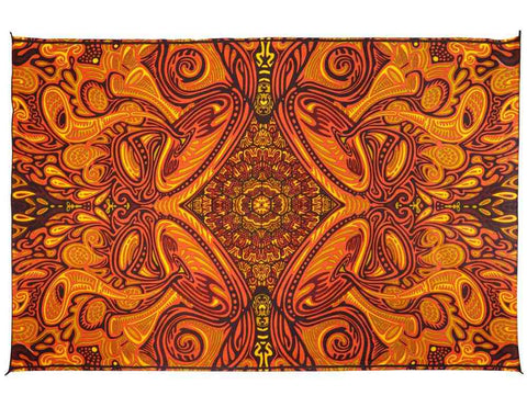 Honey Hive Psych Art Tapestry Wall Hang Cotton Tablecloth Rectangle 60x90 inches - Sweet Us