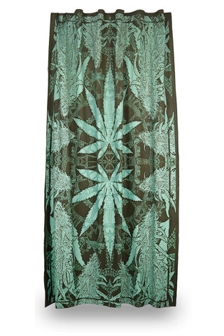 Handmade Cotton Hempest Marijuana Leaf Weed Curtain Drape Panel 56x85 Inches
