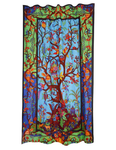 Handmade Cotton 3D Colorful Tree Of LIfe Curtain Drape Panel 56x85 Inches