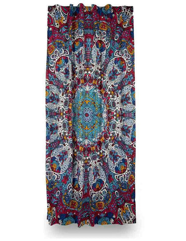 Cotton Psychedelic Sunburst Glow in Dark Curtain Drape Panel 56x85 Inches