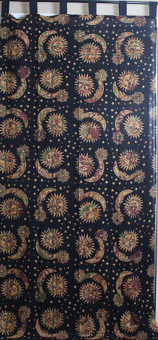 Handmade Celestial Print Mandala 100% Cotton Curtain Drape Panel 44x88 inches