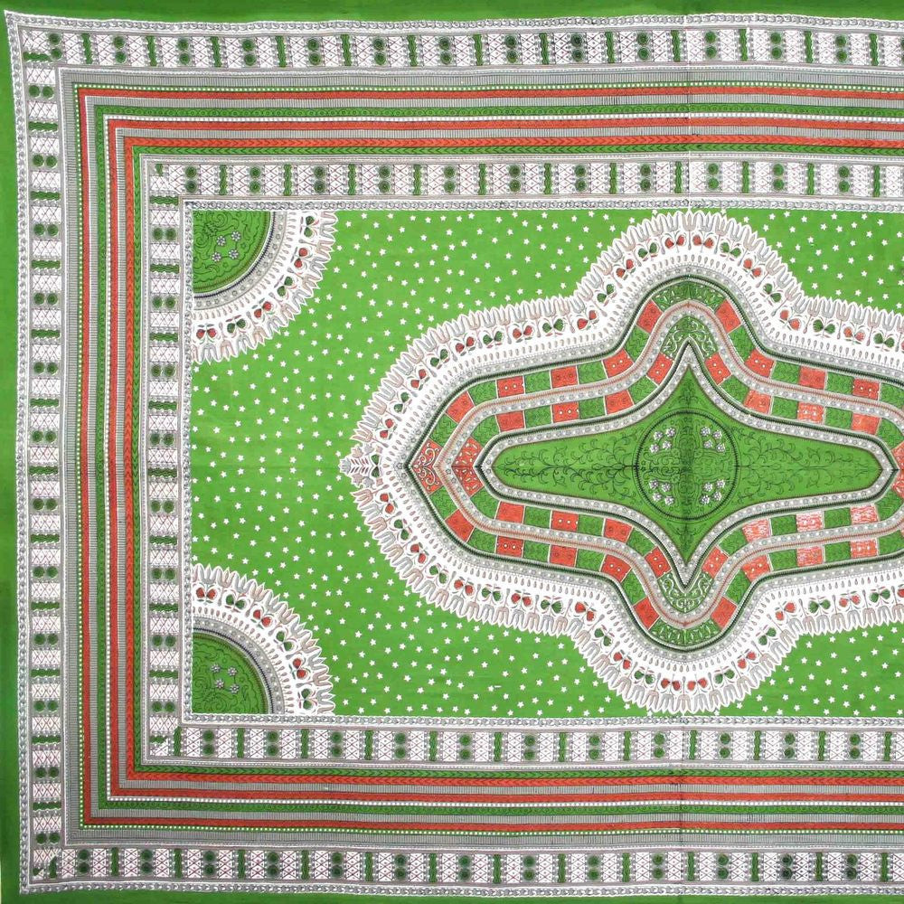 Handmade 100% Cotton Dashiki Tapestry Tablecloth Bedspread Coverlet Full Green - Sweet Us