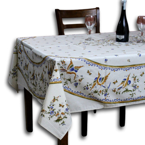 Wipeable Tablecloth Round & Rectangle Spillproof French Acrylic Coated Moustiers - Sweet Us