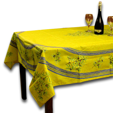 Wipeable Tablecloth 60x98 Spillproof French Acrylic Coated Clos De Oliviers - Sweet Us