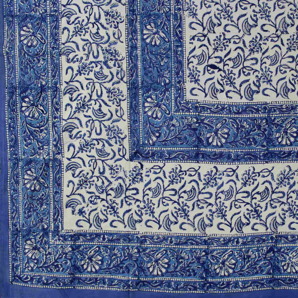 Handmade Cotton Rajasthan Block Print Tapestry Throw Tablecloth Coverlet Twin & Full - Sweet Us