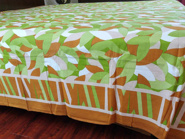Handmade Cotton Petal Cluster Leaves Spread Tablecloth