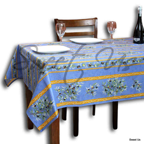 Wipeable Tablecloth Rectangle Spillproof French Acrylic Coated Clos De Oliviers