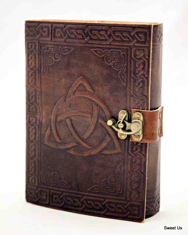 Leather Journal Celtic Triquetra Notebook Travel Diary Notepad Art Sketchbook