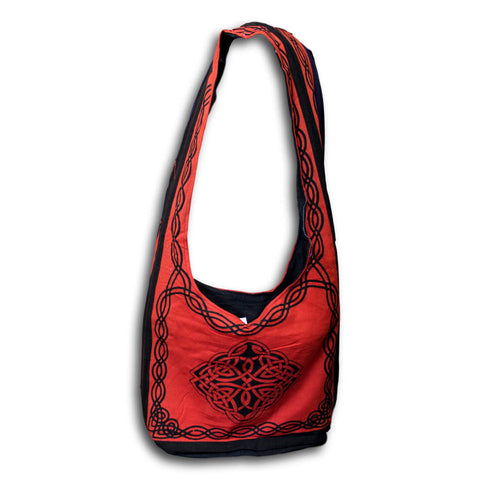 Cotton Celtic Hobo Bag for Shopping Work Tote Flat Bottom 15x12 inches