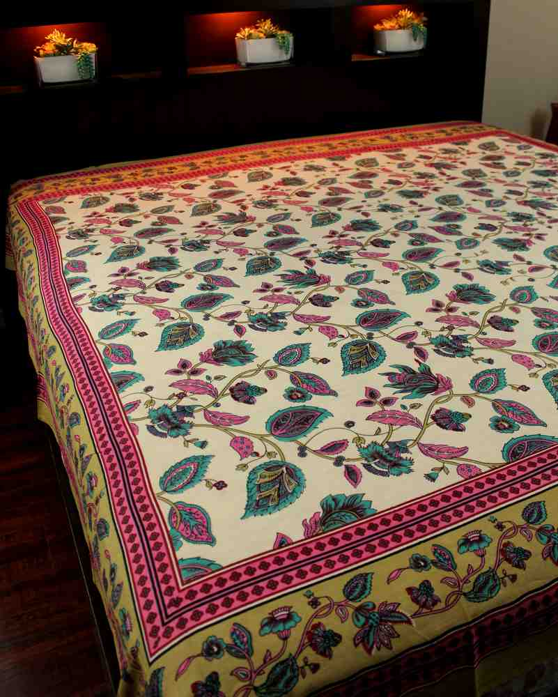 Cotton Floral Tapestry Tablecloth Coverlet Bedspread Dorm Decor Beach Sheet Full - Sweet Us