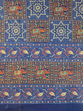 Handmade 100% Cotton Elephant Star Floral Bedspread Tapestry Tablecloth Twin Blue