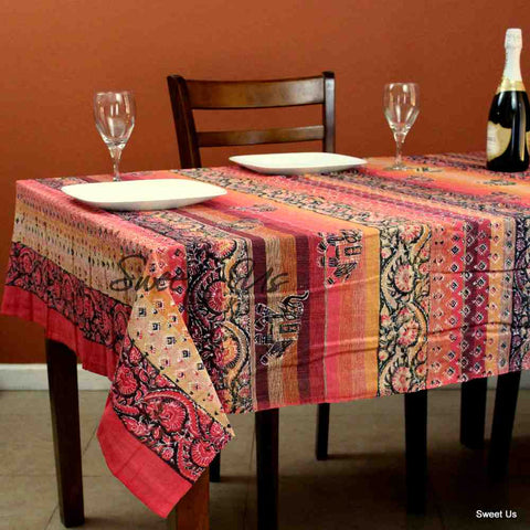Paisley Tapestry Elephant Wall Hanging Tablecloth Rectangle Bedspread Queen
