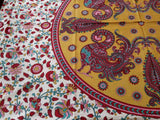 Handmade 100% Cotton Floral Peacock Tablecloth Coverlet Throw Tapestry Beach Sheet Bed Sheet Red Dorm Essential Twin