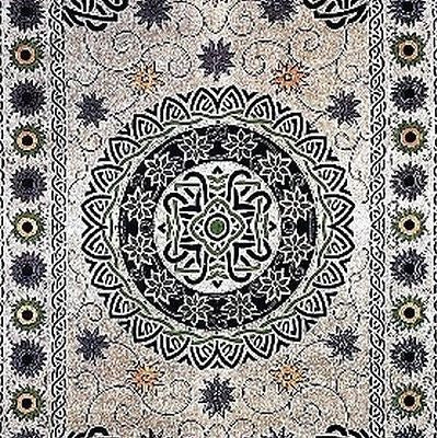 Handmade 100% Cotton Celtic Mandala Sunflower Tapestry Spread Neutral 70x104 - Sweet Us