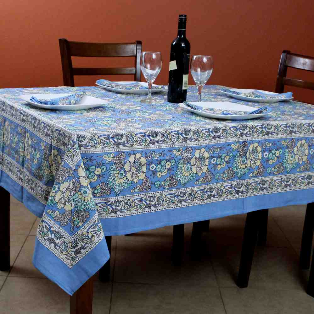 Cotton French Country Floral Tablecloth Square 72 X 72