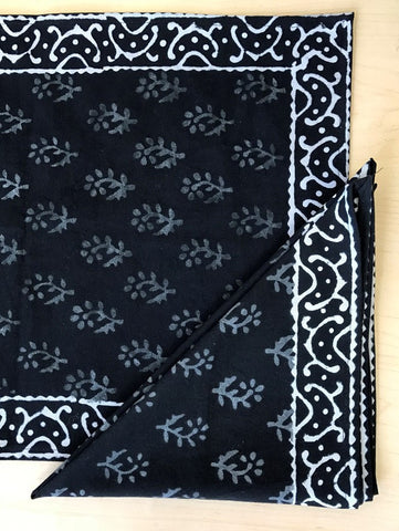 Handmade 100% Cotton Hand Block Print Floral Buti Napkin Table Linen 19x19