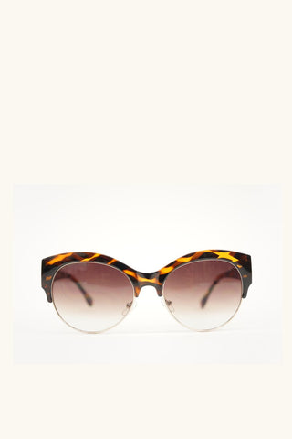 Cat Eye Sunglasses Tortoise Frame with Brown Gradient Lense