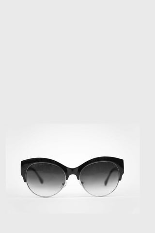 Cat Eye Sunglasses Black Frame with Gray Gradient Lense