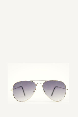 Classic Aviators Sunglasses Black/Silver
