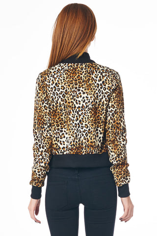 Cheetah Print Track Jacket
