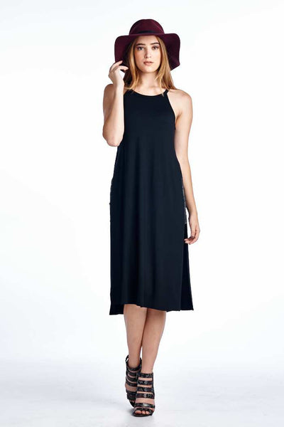 Side Slit Tank Dress