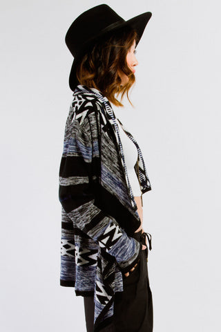 Knit Tribal Print Cardigan