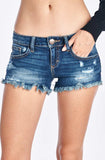 Frayed Hem Low Rise Shorts