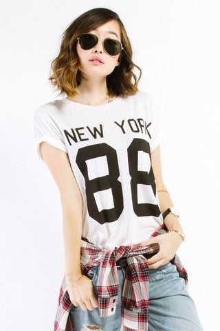 White New York 88 Cotton Tee