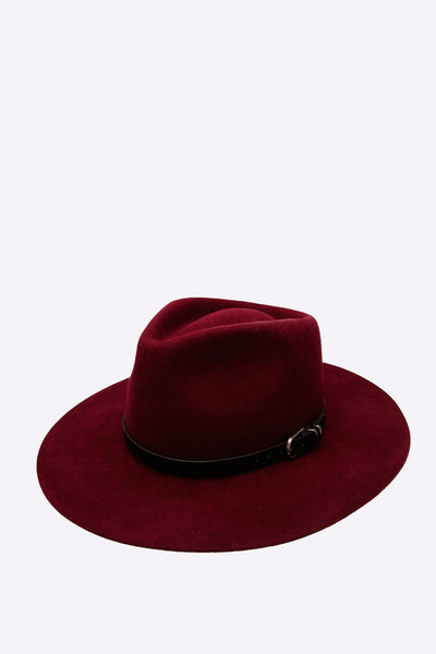 Burgundy Wool Fedora