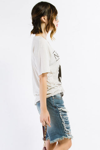 New York Skyline Oversized Graphic Tee
