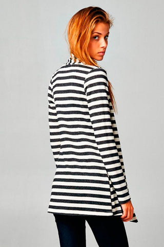 Striped French Terry Cardigan