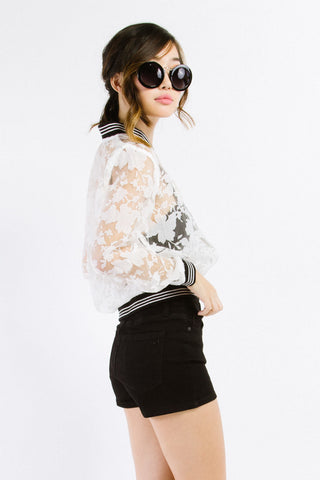 White Floral Lace Jacket