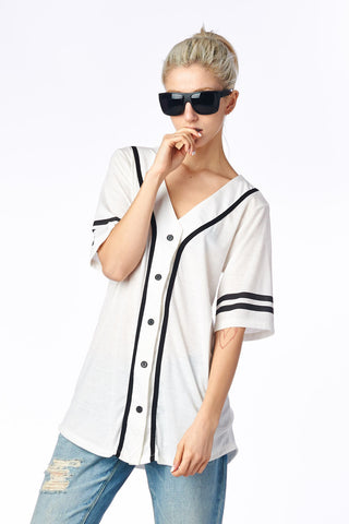 White West Coast 71 Baseball Jersey Top