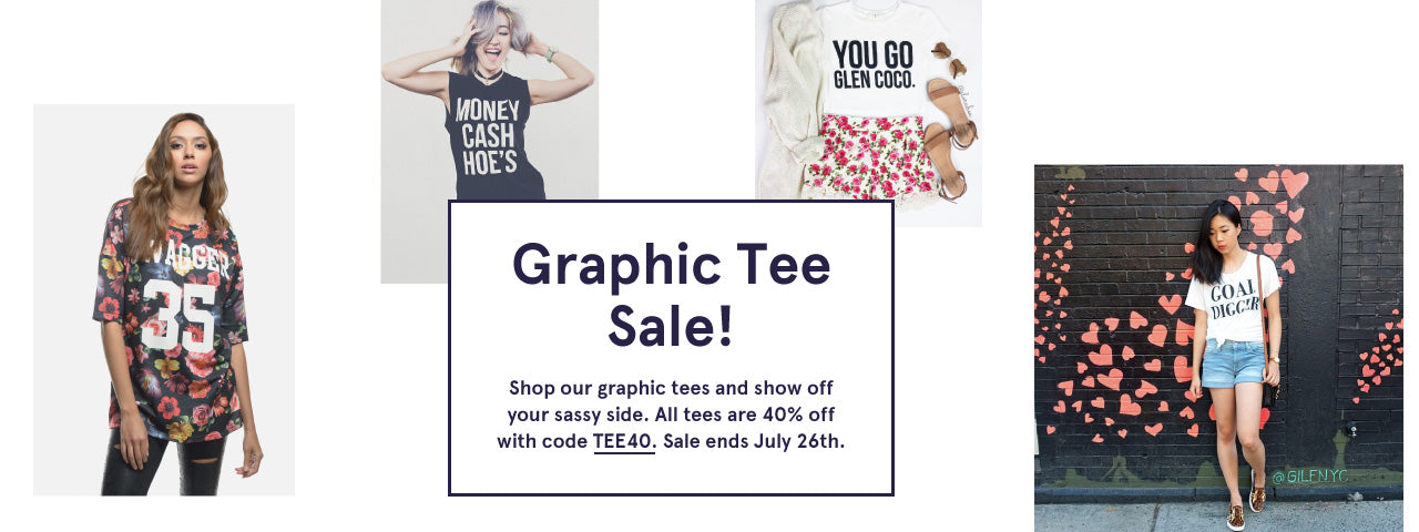 Graphic Tee Sale