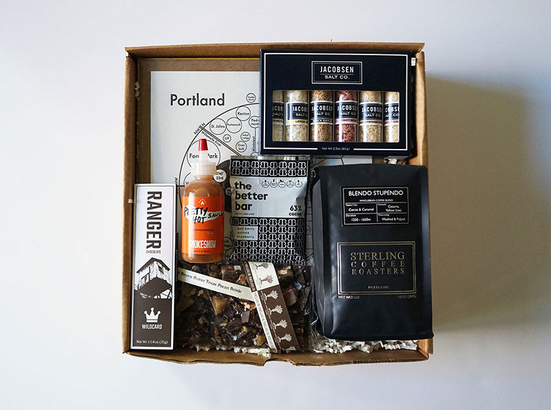 MadeHere PDX Portland Oregon Locally Made Gift Boxes Corporate Gifting Local