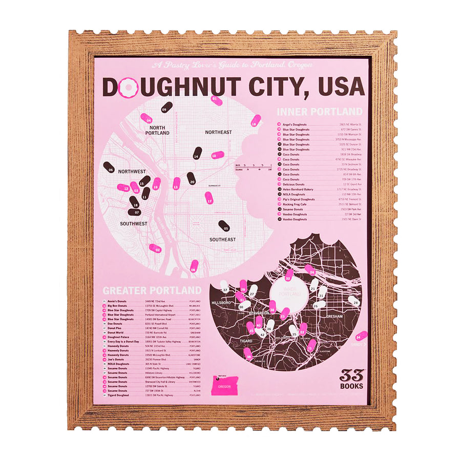 Doughnut City, USA Poster by 33 Books Co.