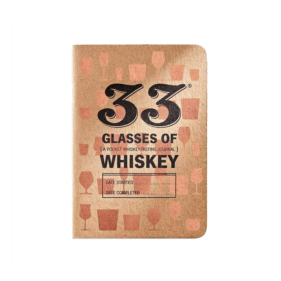 33 Glasses of Whiskey Tasting Journal by 33 Books Co.
