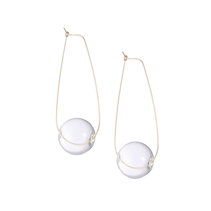 Large Light Being Earrings by AK Studio