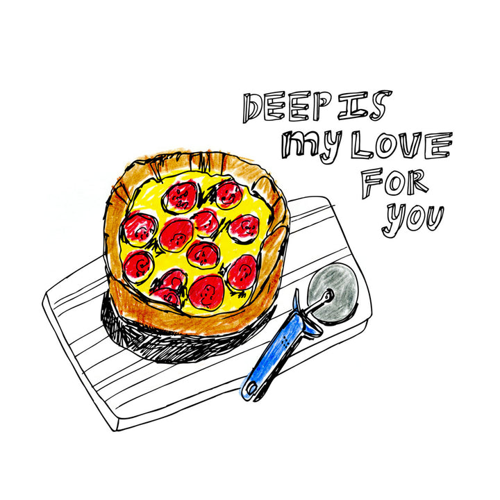 Deep Dish Card by ARTjaden