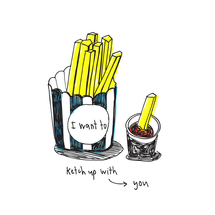 I Want to Ketchup With You Card by ARTjaden