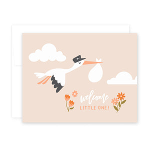 Baby Stork Card by April Black