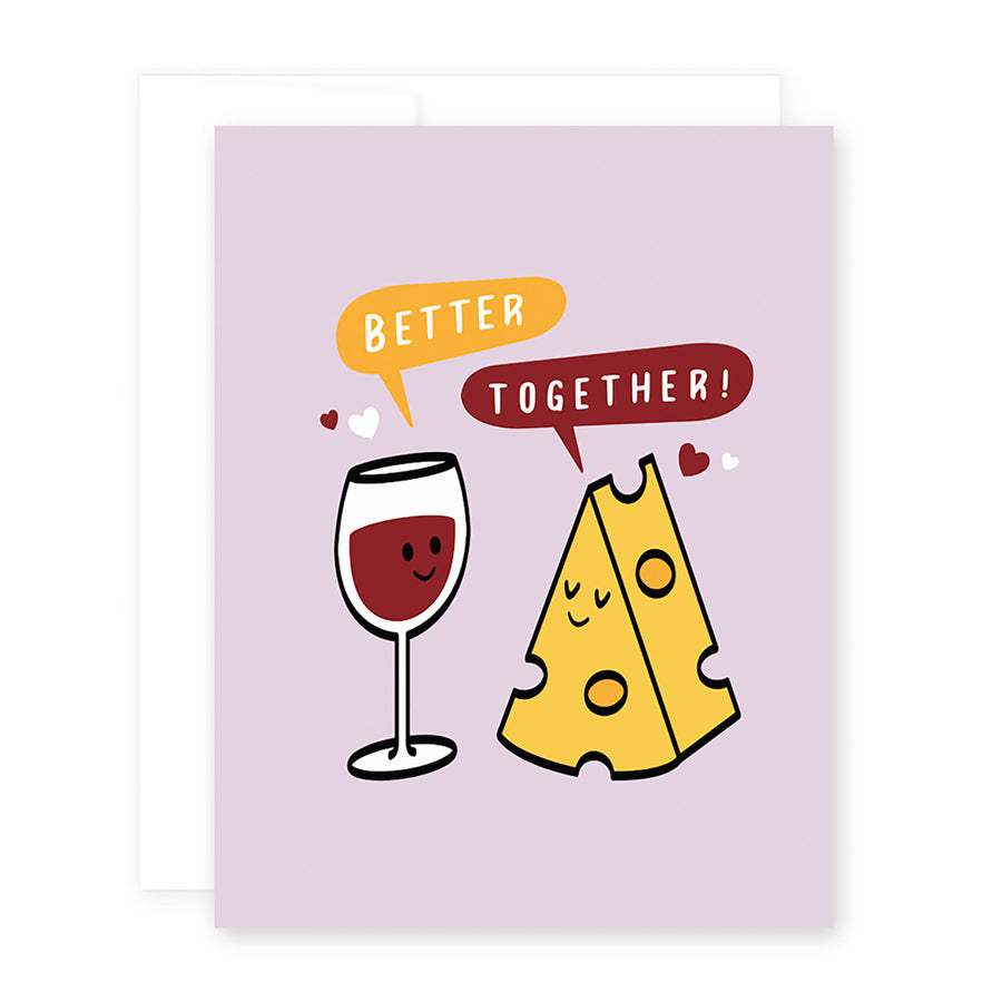 Love Wine & Cheese Card by April Black
