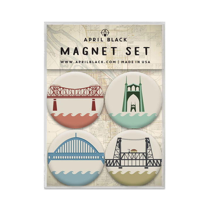 Portland Bridge Magnets by April Black